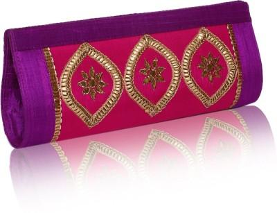Sparkle Street Women Party Pink, Purple, Gold  Clutch