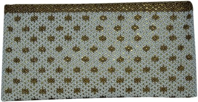 Nyra Women Party, Festive White, Gold  Clutch