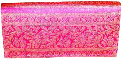 Indha Craft Women Casual Pink  Clutch