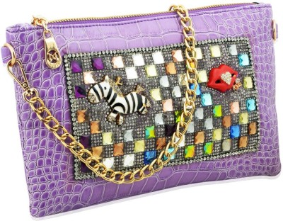 Artisan Crafted Party Purple  Clutch