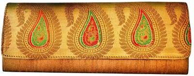 Bhamini Women Party Gold  Clutch