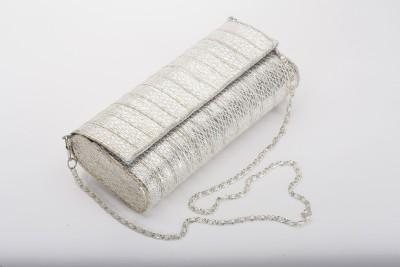Silk&Sequins Women Party Silver  Clutch