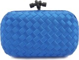 Zaira Diamond Women Blue  Clutch