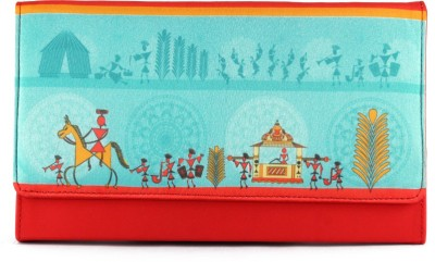 The Ringmaster Girls Casual Red  Clutch