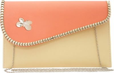 Polki Casual, Party Pink, Beige  Clutch