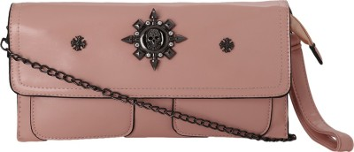 Kalon Casual Pink  Clutch