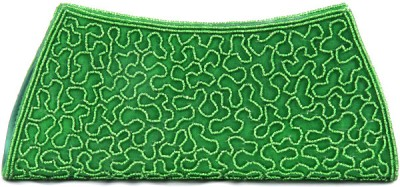 Abqa Women Casual, Party, Wedding Green  Clutch