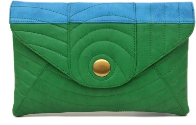 SG Collection Women Casual Green  Clutch
