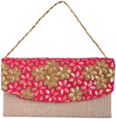 Arisha kreation Co Festive Pink  Clutch