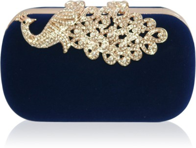 Inspired Living Women Party Blue  Clutch