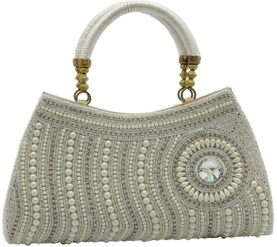 Youth Mantra Women Party White  Clutch