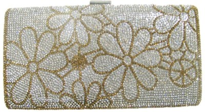 Divine Collection Wedding, Formal, Party Silver, Gold  Clutch
