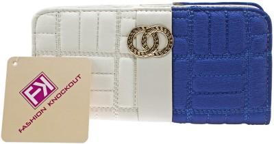Fashion Knockout Casual Blue, White  Clutch