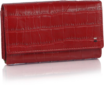 League Leather Women Casual, Party Red  Clutch