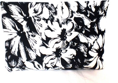 PO,UCH - UP Casual Black, White  Clutch