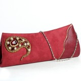 Aapno Rajasthan Women Party Red  Clutch