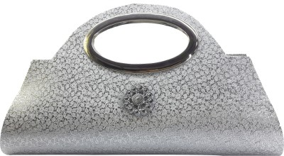 X-WELL Party, Wedding, Festive Silver  Clutch