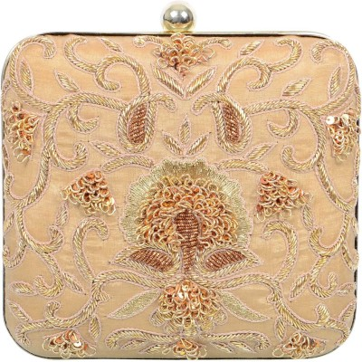 Uptown Laila Women Party Beige  Clutch