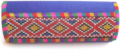 Indian Swan Party Blue  Clutch