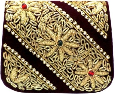 Sunita Fashion Wedding, Party, Festive Maroon  Clutch