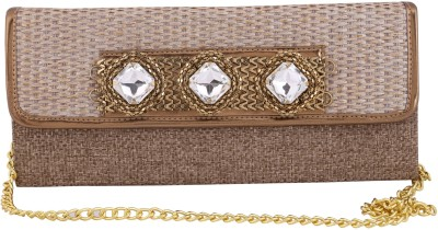 Vdesi Ethnic Women Festive, Formal, Party, Wedding Gold  Clutch