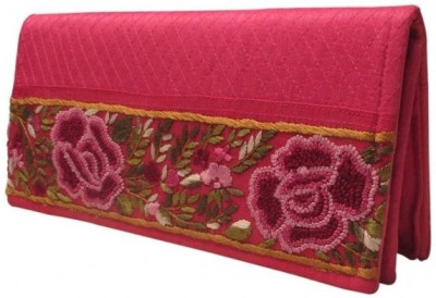 Indha Craft Women Wedding Pink  Clutch