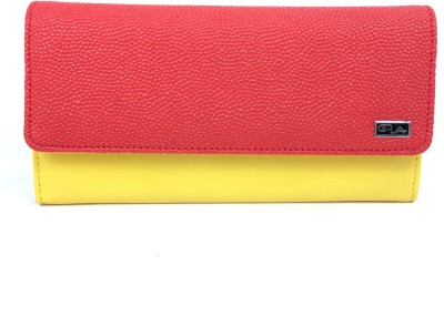 Goodwill Leather Art Girls, Women Casual, Festive, Formal, Party, Wedding Red, Yellow  Clutch