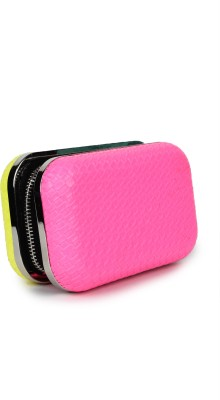 Amatra Girls, Women Casual, Party Pink, Yellow  Clutch