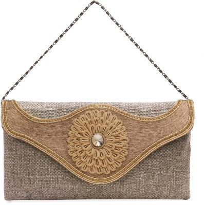 Ashyam Party Brown  Clutch
