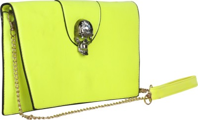 Idiot Theory Women Party Yellow  Clutch