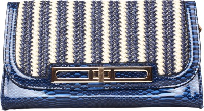 Kiara Women Casual Blue  Clutch