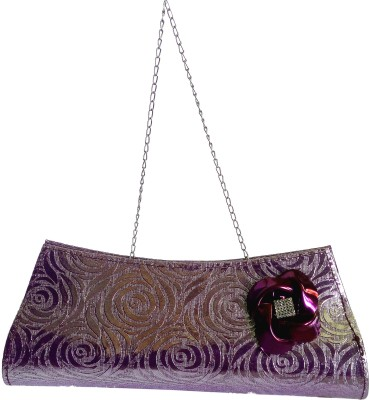 X-WELL Wedding, Party, Festive Purple  Clutch
