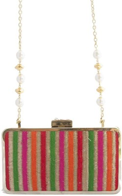 The Creative Hub Women Party Multicolor  Clutch
