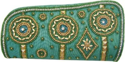Himalaya Handicraft Party Green  Clutch