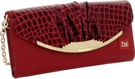 ZINS Party, Wedding Red PU Leather Clutch
