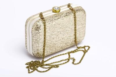 Silk&Sequins Women Formal Gold  Clutch