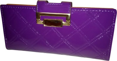 A To Z Creations Women, Girls Casual, Party Purple  Clutch
