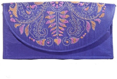Slice Of Bengal Casual Blue  Clutch