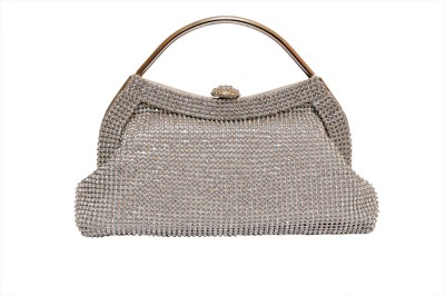 Tanishka Exports Girls Party Silver  Clutch