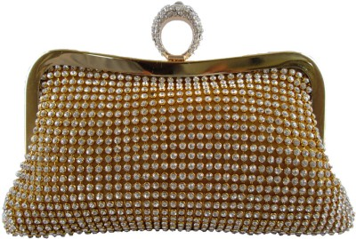 Indostyle Women Party Gold  Clutch