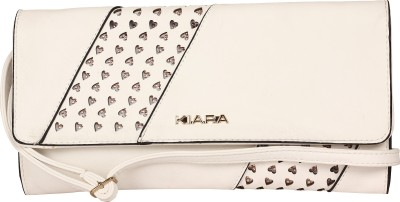 Kiara Women Casual White  Clutch