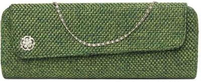 Kraftrush Women Casual Green  Clutch