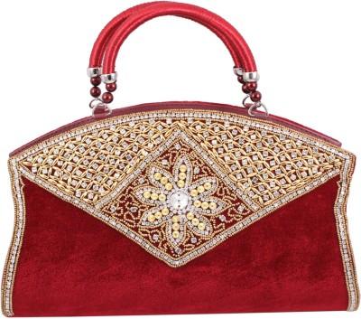 Alishaan Wedding, Party, Festive Maroon  Clutch