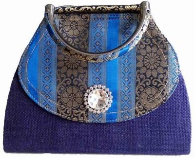 Avisha Creations Party, Wedding Blue  Clutch
