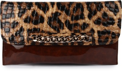 Kleio Girls Casual, Party Brown  Clutch