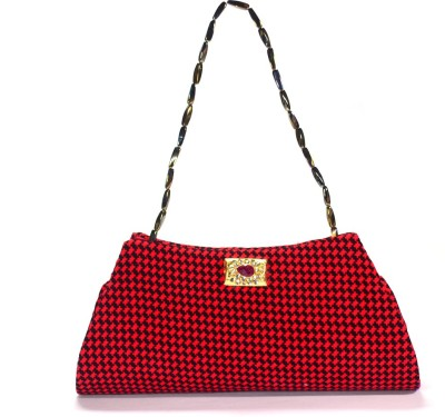 Arisha kreation Co Women Party Red, Black  Clutch