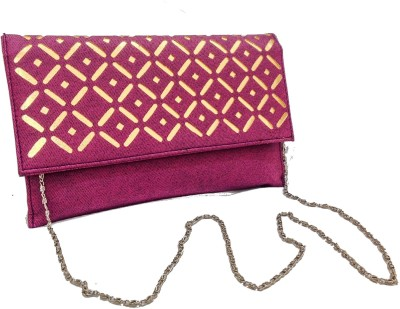 Walletmania Women, Girls Party, Festive, Wedding, Casual, Formal Pink, Gold  Clutch