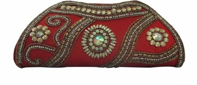 Maayas Party Red  Clutch