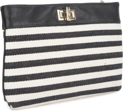 Carlton London Women Black, Beige  Clutch
