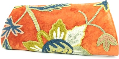 Aabeer Women Party Orange  Clutch